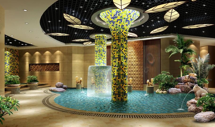 洗浴设计效果图 天津洗浴会所设计